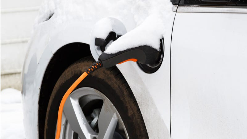 Illustration for article titled AAA Says Freezing Temperatures Can Cut EV Range By More Than Half
