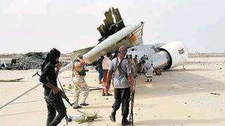 Illustration for article titled Yemeni Presidential 747 Destroyed In Fighting At Airport