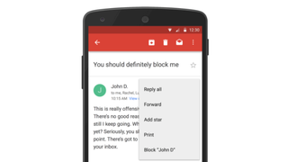 Illustration for article titled Gmail Now Lets You Block Email Addresses, Unsubscribe on Android