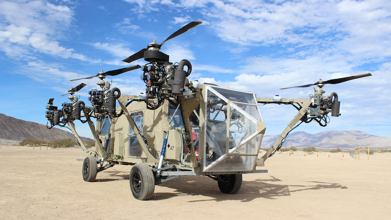 Illustration for article titled This flying drone helicopter truck is a real life transformer