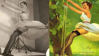 Illustration for article titled Pinup Girls Before and After: The Original Photoshop