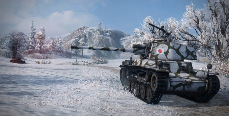 A Japanese tank in World of Tanks.