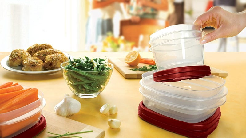 Rubbermaid Easy Find Lids 60-Piece Food Storage Container Set, Red | $23 | Amazon