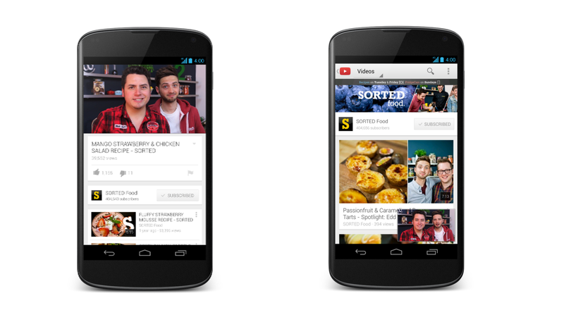 Illustration for article titled YouTube's Getting a Fantastic, Functional Makeover on Android