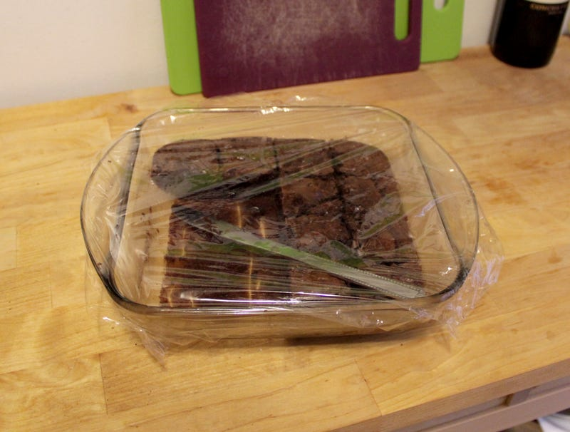 Illustration for article titled Knife Condemned To Week Inside Saran-Wrapped Brownie Pan