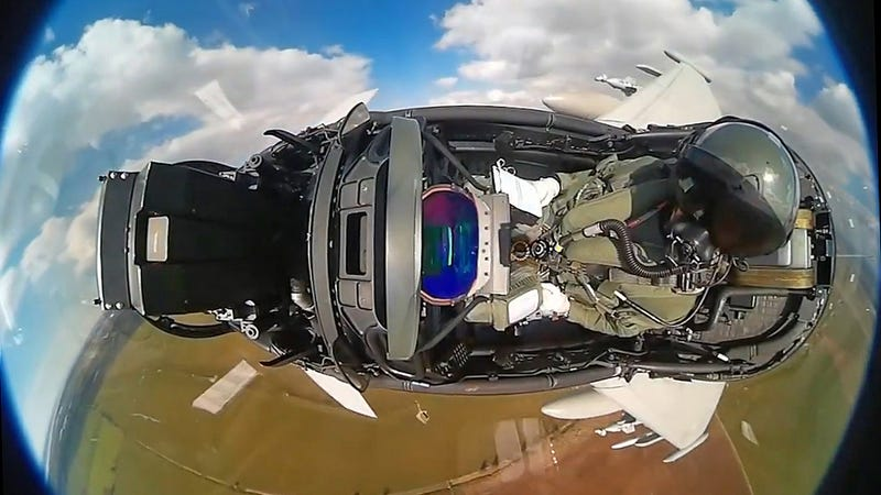 Illustration for article titled This Fisheye Video Shot In A Eurofighter Typhoon Cockpit Is Mezmerizing