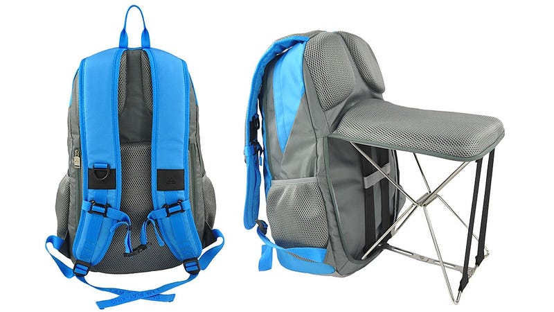 Illustration for article titled The Perfect Backpack for Lazy People Ensures You'll Always Have a Place to Sit