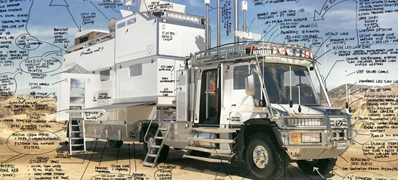 Illustration for article titled World's Most Advanced Private Expedition Truck, Built For A 4-Year-Old