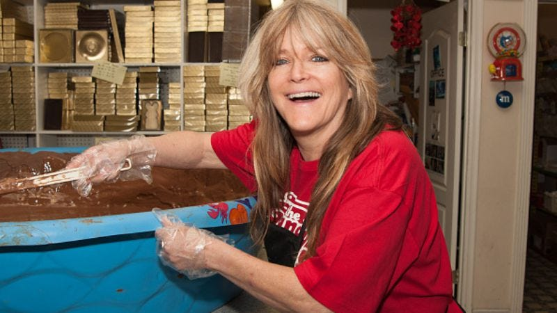 Susan Olsen, stirring up chocolate, not shit (Photo: Lilly Lawrence/Getty Images)