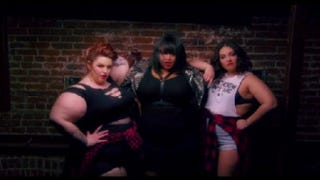 "A scene from plus-size blogger Gabi Gregg's remake of Beyoncé's ""***Flawless"" video to promote healthy body images.SCREENSHOT/VIMEO"