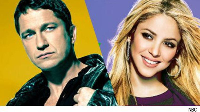 "Illustration for article titled Saturday Night Live: ""Gerard Butler/Shakira"""