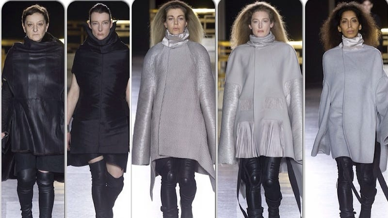 Illustration for article titled Rick Owens Is the Latest Designer to Replace Models With 'Real Women'