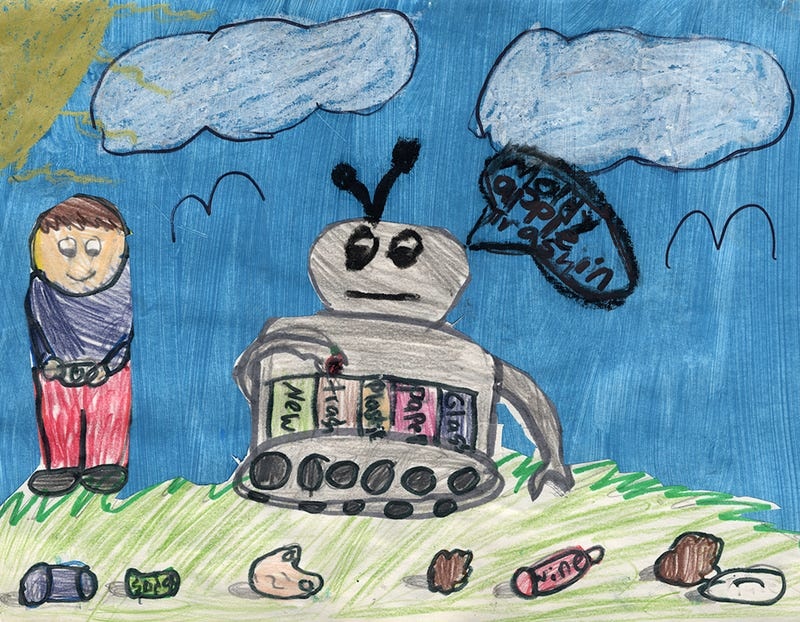 Illustration for article titled NASA Asked Kids to Draw Our Future And They Drew WALL-E