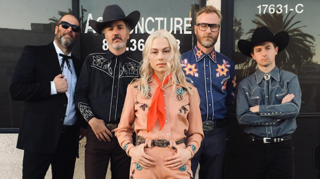 Phoebe Bridgers, The National play a fictional band called Spiders From Bars in the Between Two Ferns movie