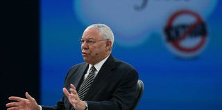 Former Secretary of State Gen. Colin Powell speaks at a conference in 2012. (Justin Sullivan/Getty Images)