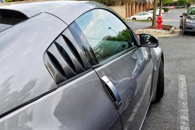 Illustration for article titled Side window louvers aren't just for Mustangs anymore