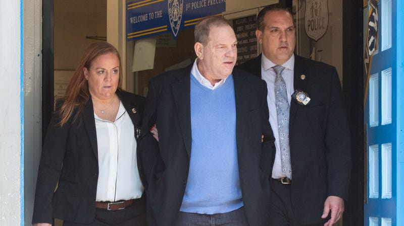 Illustration for article titled Harvey Weinstein arrested, formally charged with rape