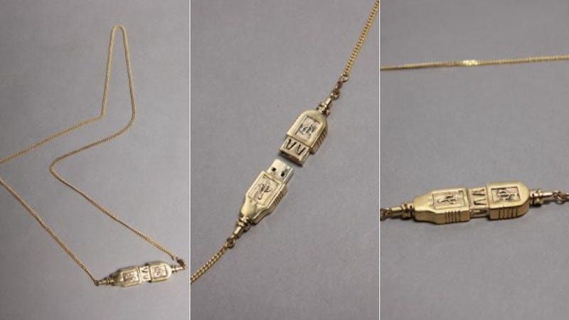 Illustration for article titled You Can't Store Your Stuff on This USB Drive Necklace