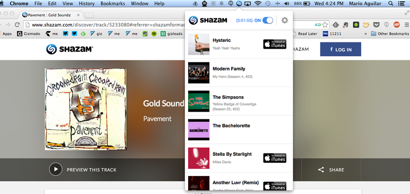 Illustration for article titled Shazam For Mac Brings Automatic Song and TV Show ID to Desktops