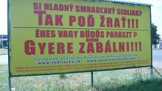 Párkányban látható a magyar nyelvterület legerősebb óriásplakátja