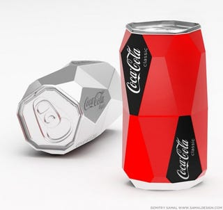 Illustration for article titled Redesigned Coke Can Won't Roll Off the Table