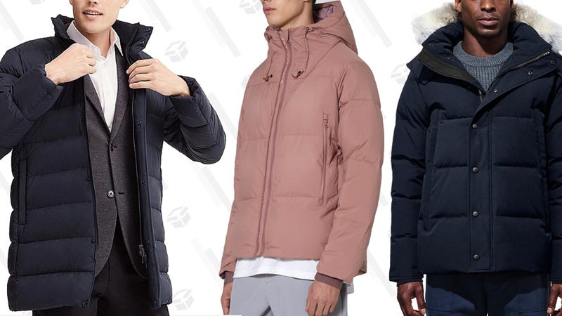 Uniqlo Ultra-Light Down Half-CoatThe Arrivals Aer JacketCanada Goose Wyndham Parka