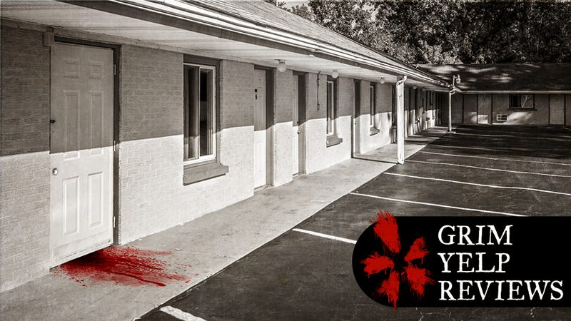 Illustration for article titled 'Large Blood Stain on Carpet:' The Bleakest Motel Reviews on Yelp
