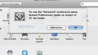 Illustration for article titled Leaked OS X 10.6 Snow Leopard Screenshot Shows 32-bit Mode