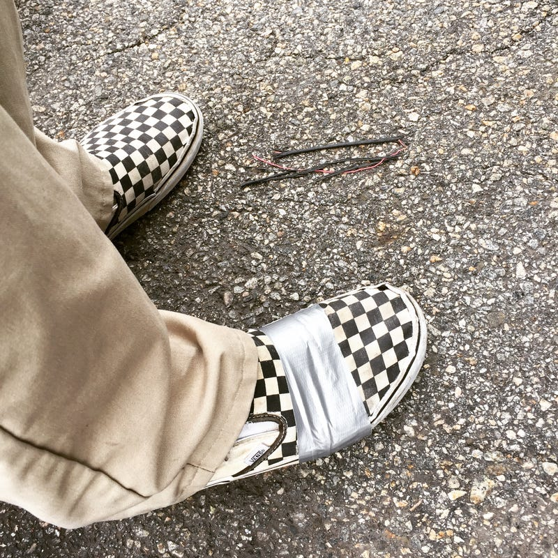 Illustration for article titled My vans were starting to rip a lot.