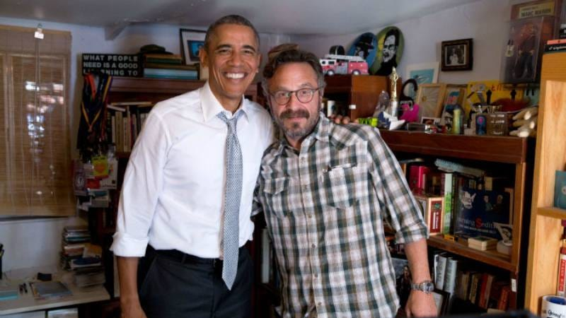 The President and some podcast guy, courtesy of the WTF site