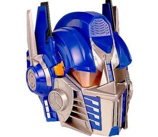 Illustration for article titled Optimus Prime Voice Changer Helmet: Transformer Fantasies Just Got a Bit Easier