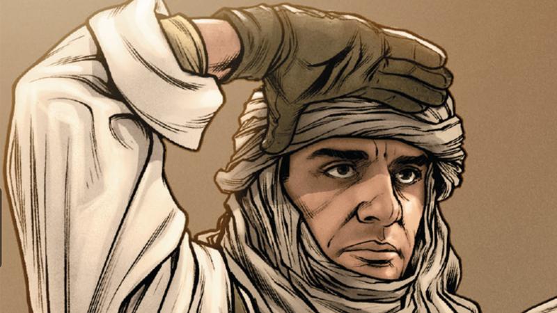 Poe-rence of Araba in action on Jakku in Poe Dameron #26.