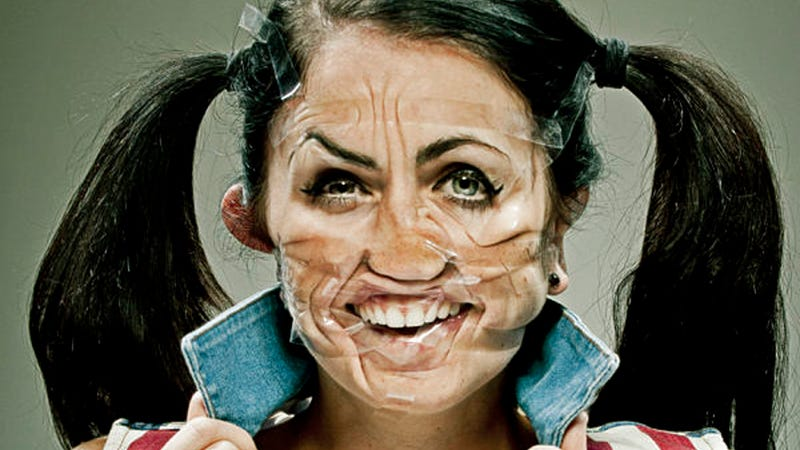 Illustration for article titled Nighttime Art Project: Scotch Tape Your Face and Take a Picture