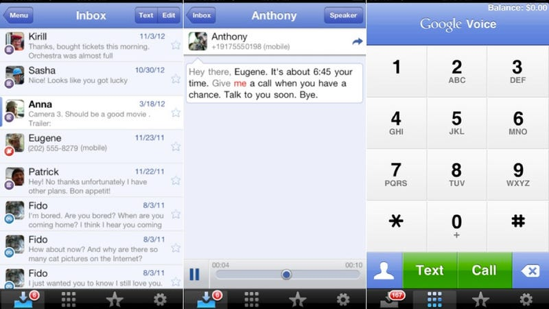 Illustration for article titled Google Voice Finally Gets Updated for iOS 6