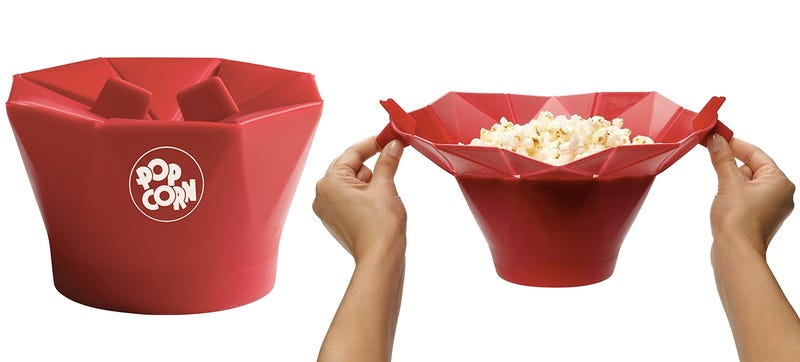 Illustration for article titled It's BYOK(ernels) With This Re-Usable Microwave Popcorn Bag