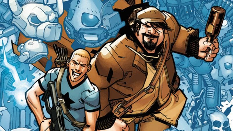 Illustration for article titled Exclusive Valiant preview: A&A #1 continues the wacky adventures of Archer & Armstrong