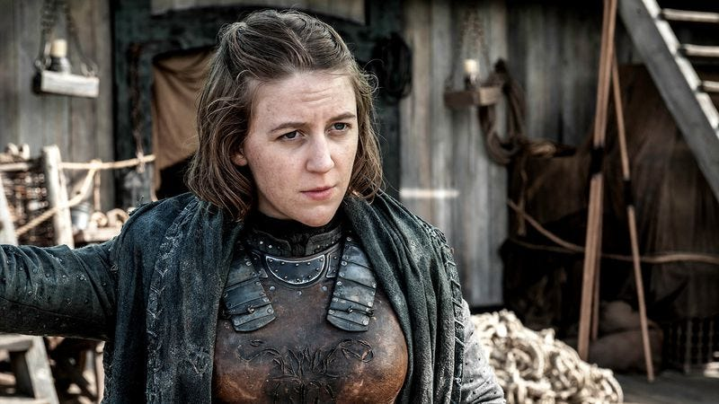 Nope, not Yara Greyjoy. She's fine. (Photo: HBO)