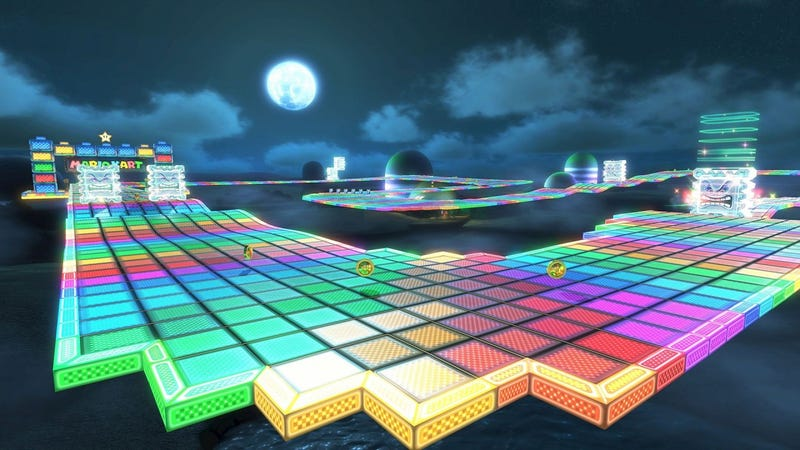 Illustration for article titled The History Of Rainbow Road Speedrunning Is Filled With Bugs, Shortcuts, And Rivalries