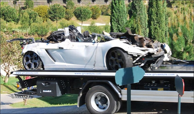 Illustration for article titled Brit Oil Tycoon's Son Dies After Lamborghini Plummets Off Cliff