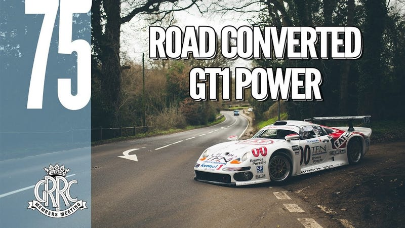 Illustration for article titled This 1998 Porsche GT1 Is A Frighteningly Fast Street Legal Racecar