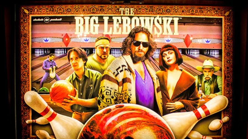 Illustration for article titled The amazing prototype of The Big Lebowski pinball machine abides
