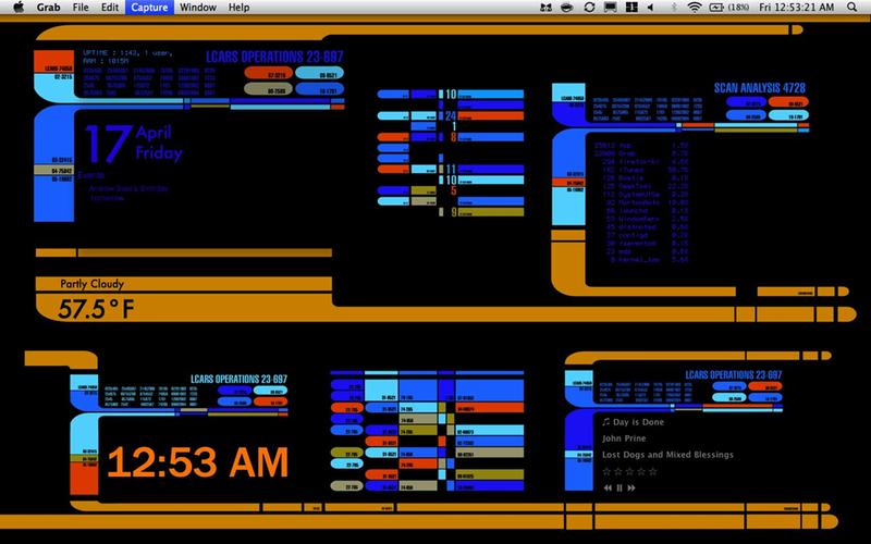 The LCARS for Mac Desktop