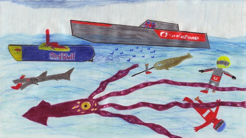 Illustration for article titled The 2011 Canadian Grand Prix in Crayola