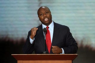 Then-U.S. Rep. Tim Scott during the Republican National Convention at the Tampa Bay Times Forum Aug. 28, 2012, in Florida.Mark Wilson/Getty Images