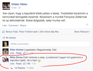 Illustration for article titled Orbán Viktor beadta, Zsíros Réka berúgta