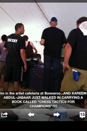Illustration for article titled Kareem Abdul-Jabbar Read A Book Called Chess Tactics For Champions While At Bonnaroo