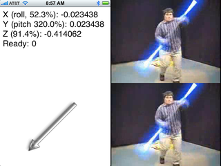 Illustration for article titled iSaber Makes Your iPhone a Lightsaber