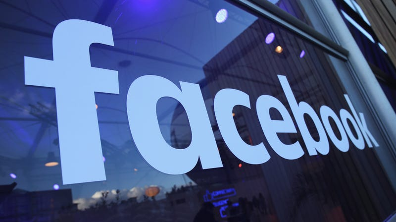 The Facebook logo is displayed at the Facebook Innovation Hub on February 24, 2016 in Berlin, Germany.