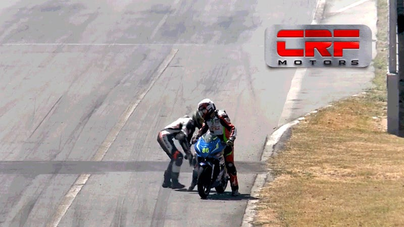 This Is How You Get Banned From Motorcycle Racing