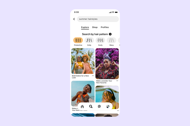Pinterest's New Search Feature Will Allow BIPOC Users to Sort Results by Hair Pattern